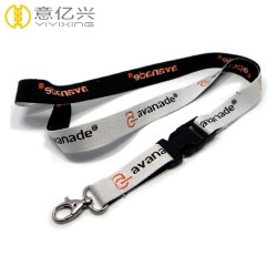 High quality promotion cheap black gray jacquard breakaway lanyards