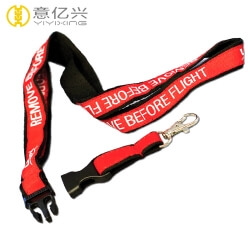 Custom jacquard woven logo safety lanyard with swivel hook