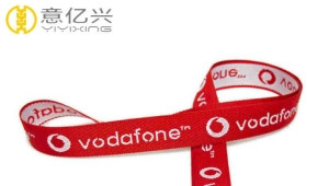 Polyester Personalized Double Woven Custom Made Lanyards With Logo