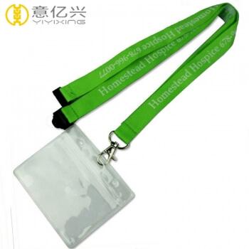 Cheap neck printed custom polyester jacquard lanyards card holder