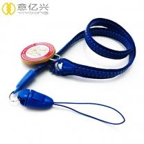 Wholesale Funny Custom Blue Plastic Zipper Lanyard