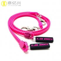 Customized rubber puller plastic zipper lanyard keychain
