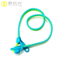 Unique style cheap adjustable resin zipper lanyard with cellphone loop