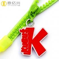 Wholesale fashion custom zipper lanyard with custom soft PVC