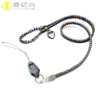 2019 Cheap sale custom mobile phone funny lanyard zipper neck straps