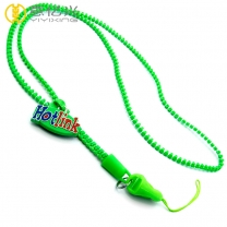Custom silicone puller 5mm plastic personalized zipper lanyard