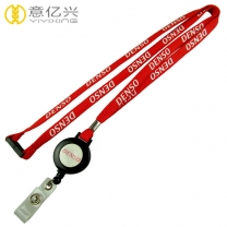 Advertising cheap 10mm polyester flat tubular lanyards with yoyo
