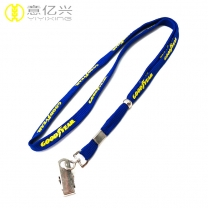 Beautiful Silk Screen Logo Printing 10mm Shoelace Lanyard for Promotional