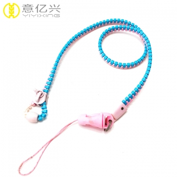 zipper lanyard keychain