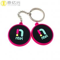 Custom logo key chain for rubber key holder soft silicon keychain