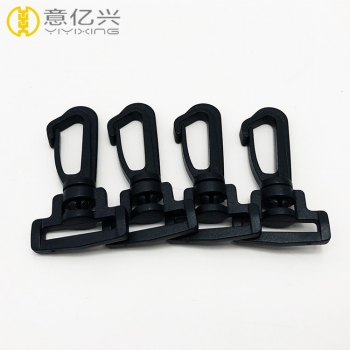 High Quality Mini Black Plastic Snap Hook for Lanyard Hook