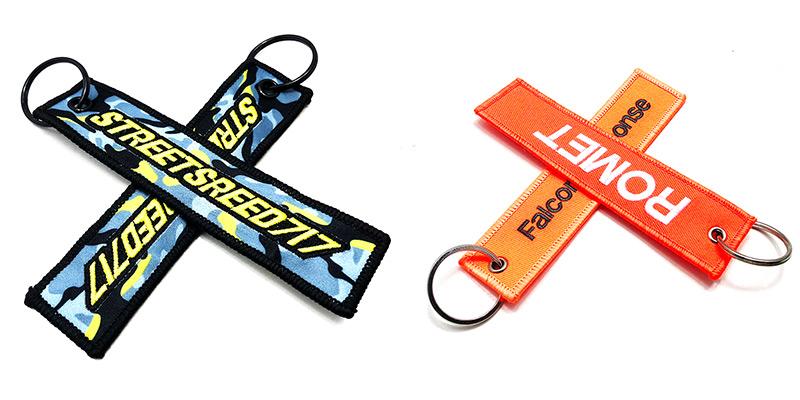 Custom embroidered key tags