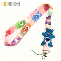 Factory direct sale custom bear logo cute lanyards for keys