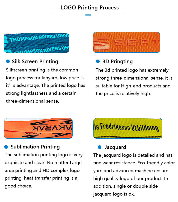 Introduction to the common printing process of ribbon lanyard logo