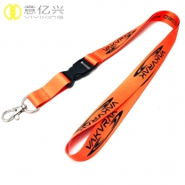 High Quality Polyester Sublimation Orange Lanyards Wholesale
