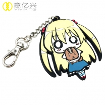Promotional custom 3d shaped silicone pvc rubber cute keychain