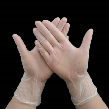 Clear Nitrile Gloves (2)