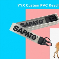 OEM Custom Rubber Keychain For Fashion Logo Brand Name Soft Silicone Wristband K
