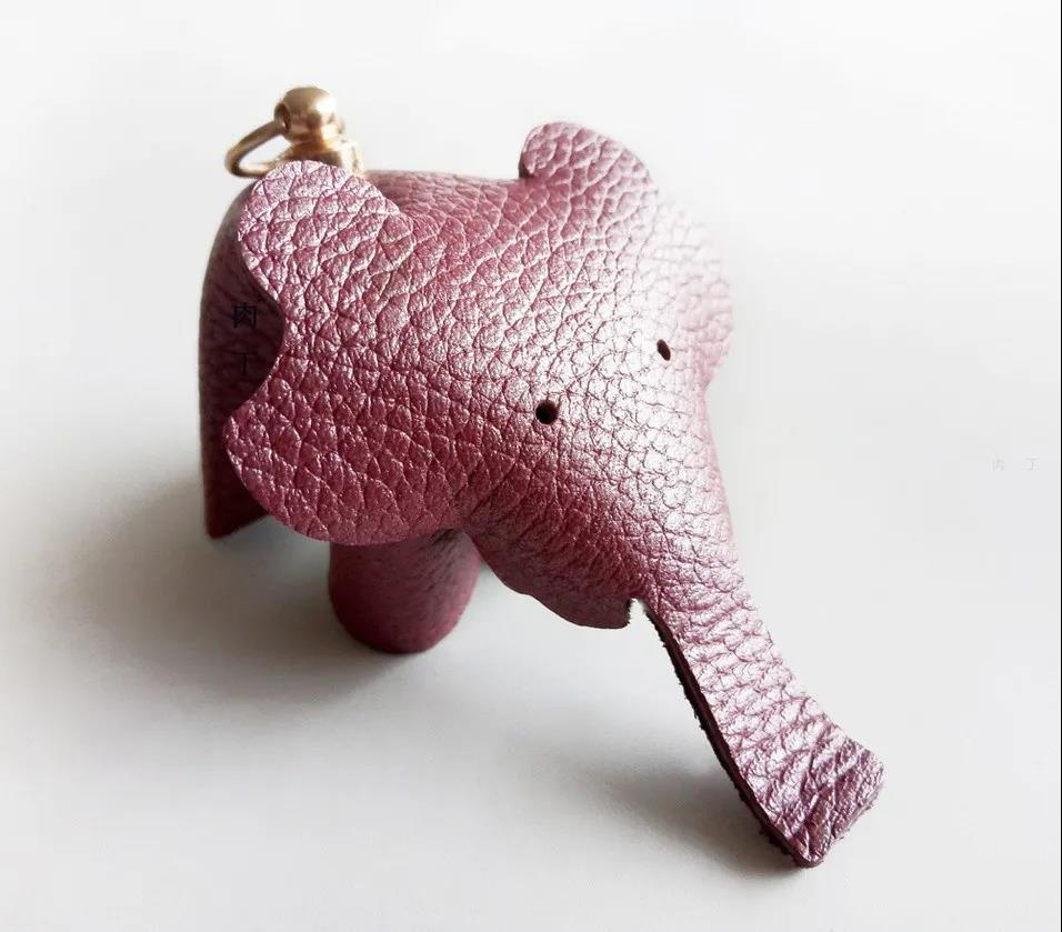 Handmade cute elephant keychain pendant