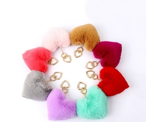 Purchase customized cute pompom keychain