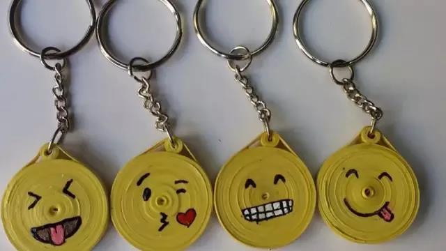 Cute emoji keychain