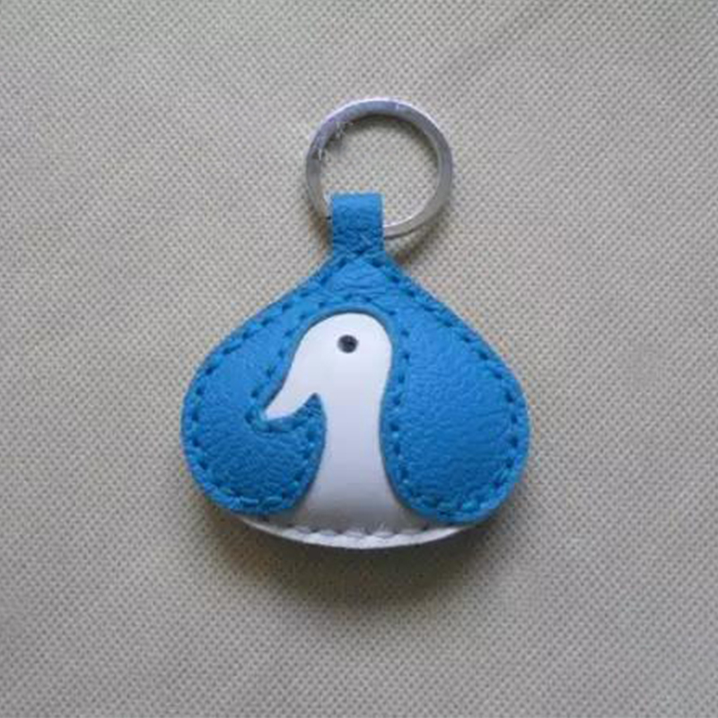 Beautiful and cute keychain made of leather