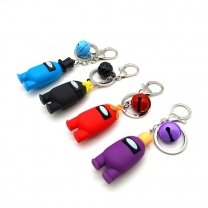 Custom among us 3d available design rubber silicone Keychain