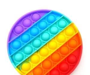 Push Pop Bubble Fidget Sensory Toy, Rainbow Pop Fidget Toys